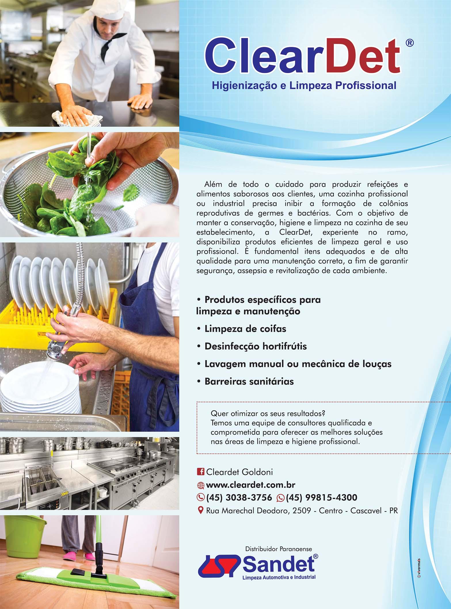 Viver Mais Gourmet Especialidade Cleardet Higieniza O E Limpeza